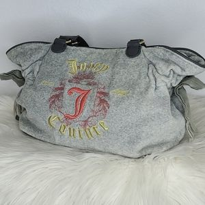 Juicy couture velour grey, embroidered bag